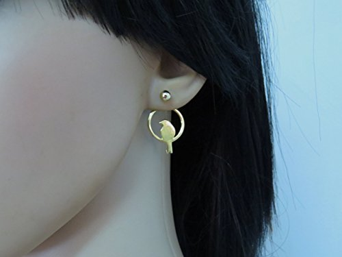 Gold Plated Bird Ear Jacket Earrings for women and Girls