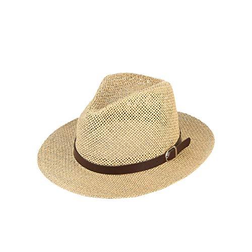 Tamia-Romtic Unisex Straw Hat for Unisex Breathable Mesh Straw Woven Fedoras Retro Jazz Cap Summer Beach Hat Hat,56-58cm