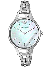 Womens Dress Quartz Stainless Steel Casual Watch, Color:Silver-Toned (Model