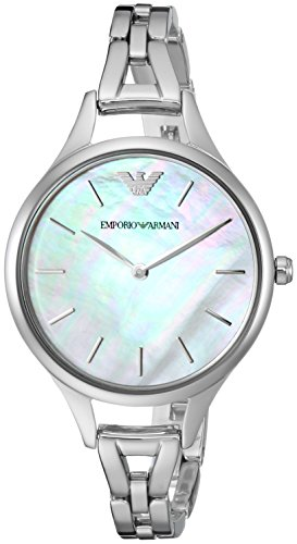 Emporio Armani Women's 'Dress' Quartz Stainless Steel Casual Watch, Color:Silver-Toned (Model: AR11054)