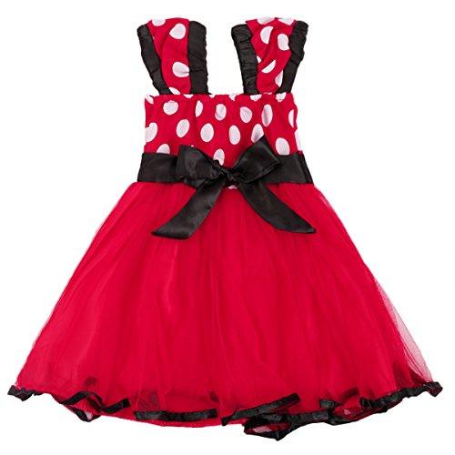 Minnie Costume Baby Girl Tutu Dress Mouse Ear Headband Polka Dot First Birthday Halloween Fancy Dress Up Princess Outfits 100 by OBEEII (Image #4)