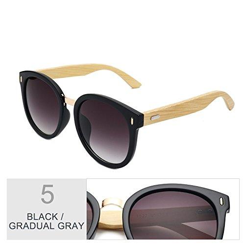 Caja Redondo De De Gafas Gray Gradual Con Espejo Color TIANLIANG04 Negro Black Regalo Mujer Gradual Gris La Para Sol X4vwdCq