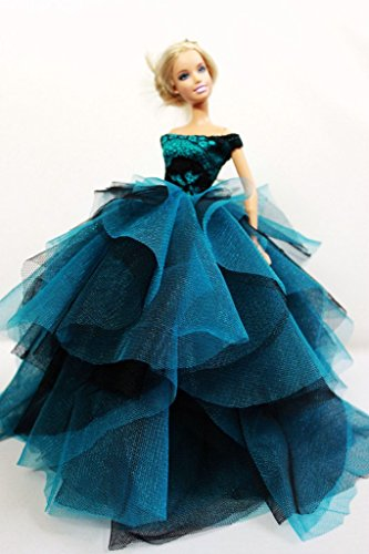 - Cora Gu Strapless Classic Lace Dress/Gowns For Barbie Doll/ Silkstone Doll /Girl's 'Present/Barbie Dress