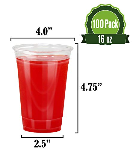 Clear Plastic Cups x100 (16oz Cups)