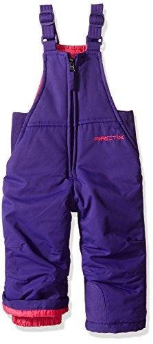 Arctix Chest High Insulated Snow Bib Overall, Purple, 24 Months