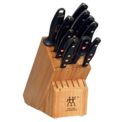 Zwilling J.A. Henckels Twin Signature Stainless-Steel 11-Piece Knife Set with Block by ZWILLING J.A. Henckels