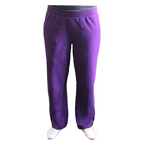 Purple Fleece Pants - 5