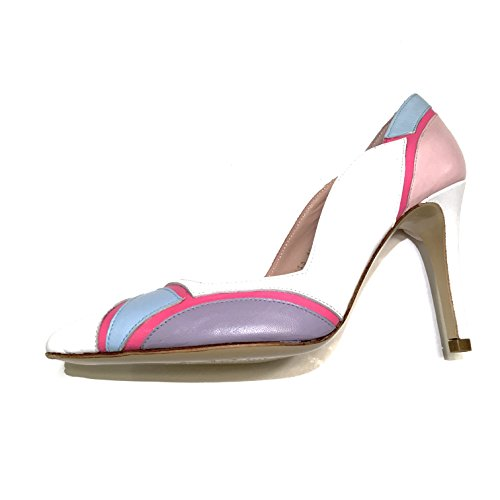 JAY KAPLAN 500 Dollar All Leather Made In Spain,One Of A Kind Stunning Multi Colored High Heel Pump, Ava Spain Womens Heels Shoes