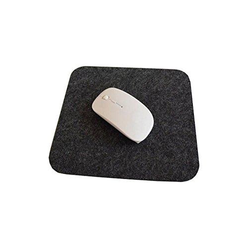 Meijunter 20x24cm New Wool Felt Anti Slip Mice Pad Mat Mousepad for PC Laptop Table Desk(Dark Gray)