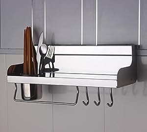 zhq 400accesorios de cocina de acero inoxidable espejo monocular con palillos Estante de la estantería de pared de gamuza