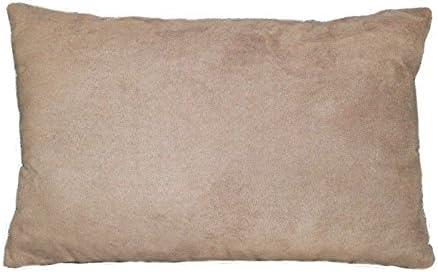 douceur dint/érieur coussin 30x50cm suede suedine sable