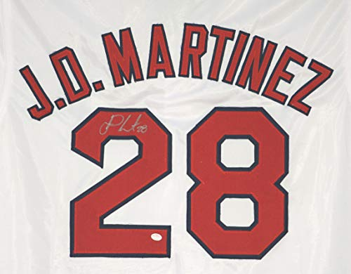 J.D. Martinez Boston Red Sox Signed Autographed White #28 Jersey PAAS COA