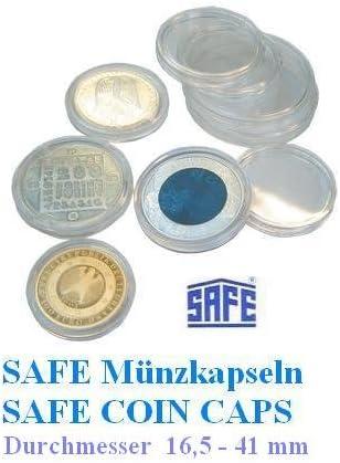 25 Safe Caps 26 – Ideal para monedas de 2 euros – Moneda Cápsulas ...