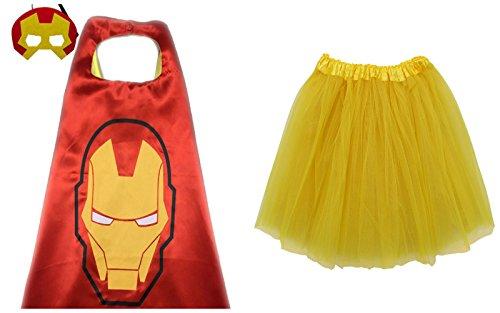 So Sydney Superhero TUTU, CAPE & MASK Adult Teen Plus Complete Halloween Costume (XL (Plus Size), (Plus Size Iron Man Costume)
