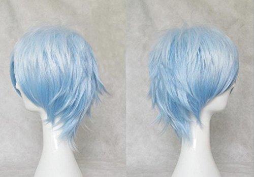 Mordor Kuroko's Basketball Tetsuya Kuroko Cosplay Short Ice blue Gradien Wig Costume