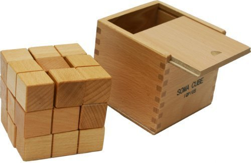(Toys of Wood Oxford Large Wooden Soma Cube Puzzle - Wooden Brain Teaser Puzzle for Kids and Adults)