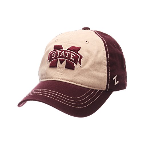NCAA Mississippi State Bulldogs Men's Sigma Relaxed Cap, Stone/Maroon, - State Bulldogs Baseball Mississippi