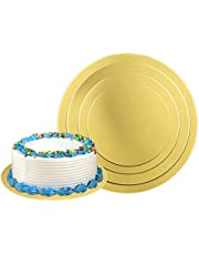 Cake Boards,Golden Round Cake Circles 12 Pack Cake Base Cardboards 3 Each (6, 8, 10, 12 Inch) Cake Rounds Cake Circles Round Cake Boards Baking Sets With 2 Card Scrapers