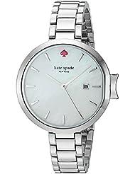 kate spade new york Womens KSW1267 Park Row Analog Display Japanese Quartz Silver Watch