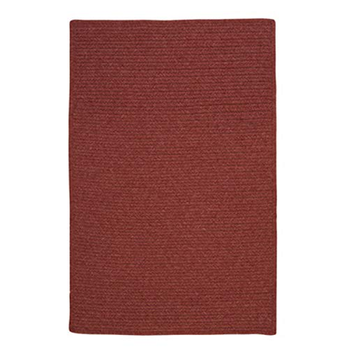 (Colonial Mills Westminster Rectangular 3' x 5' Braided Modern Area Rug In Red Solid)