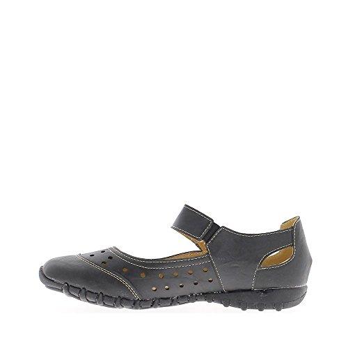 Chaussures femme noires confort décors trous légères