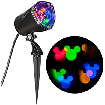 disney mickey mouse ears lightshow swirling multicolor led christmas spotlight projector - Mickey Mouse Christmas Lights