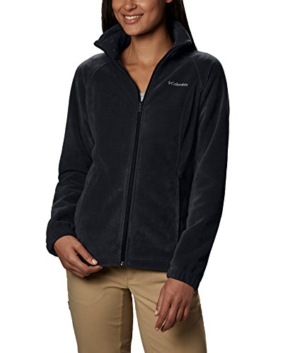 Womens Microfleece Full Zip Jacket - Columbia Women's Benton Springs Classic Fit Full Zip Soft Fleece Jacket, Black, XL