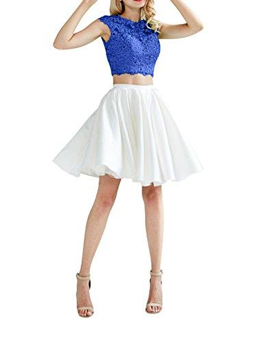 Kleider La Kurz mia Mini Ballkleider Royal Formalkleider Jugendweihe Partykleider Abendkleider Cocktailkleider Blau Satin Brau wBTqwgfz