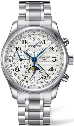 Longines Stainless Steel Wrist Watch (Longines Master Collection Silver Chronograph Dial Stainless Steel Mens Watch)