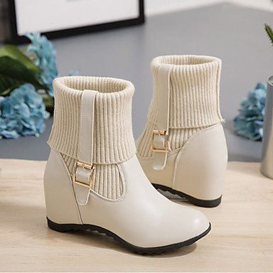 botas Botas Suelas Moda Botas black slouch Confort luz Botas Paseo Botas con hasta Gladiador de nieve Heart de formalesCuero amp;M el Tobillo Zapatos Mujer 4wqaf