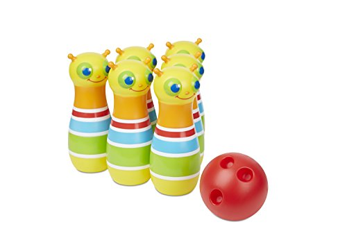 Melissa & Doug Sunny Patch Giddy Buggy Bowling Action Game - 6 Bug Pins, 1 Plastic Ball -