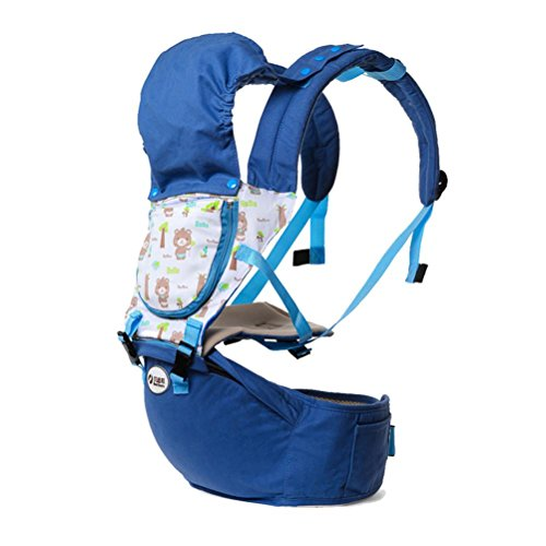 Baby Carrier Hip seat carrier Ergonomic design Variety Carry Ways with Detachable Seat Strap Adjustable Newborns Portable Multifunction Backpack carrier , blue