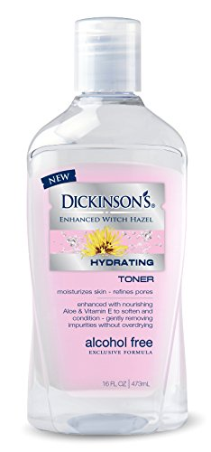 Dickinson's Enhanced Witch Hazel Alcohol Free Hydrating Toner, 16 Fluid Ounce