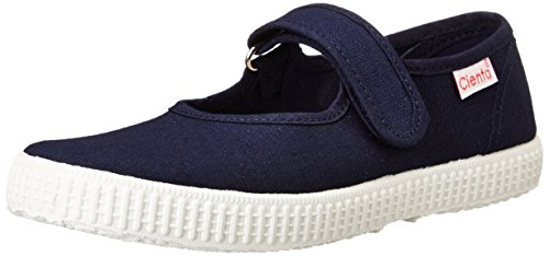 Cienta Mary Jane Sneakers for Girls – Navy Casual Shoes with Adjustable Strap, 26 EU (9 M US Toddler)
