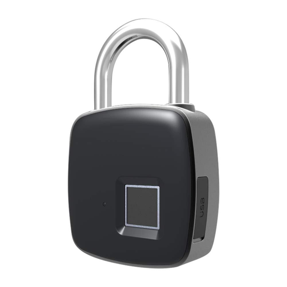IBà ste Intelligent Serrure d'empreinte Digitale Portable IP65 é tanche Peut enregistrer 10 Jeux d'empreintes digitales pour Valise Armoire Casier Placard IBàste