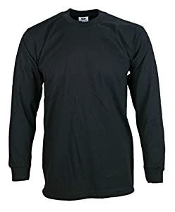 Men's proclub Heavy Weight solid crewneck long sleeve shirts
