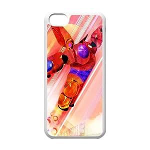 Big Hero 6 Funda iPhone 5c Funda Caja del teléfono celular blanco S8A4GI