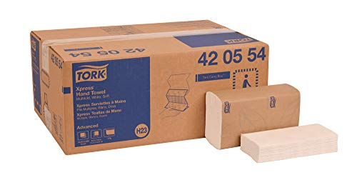 Tork 420554 Advanced Soft Multifold Paper Hand Towel, 4-Panel, 1-Ply, 8.4