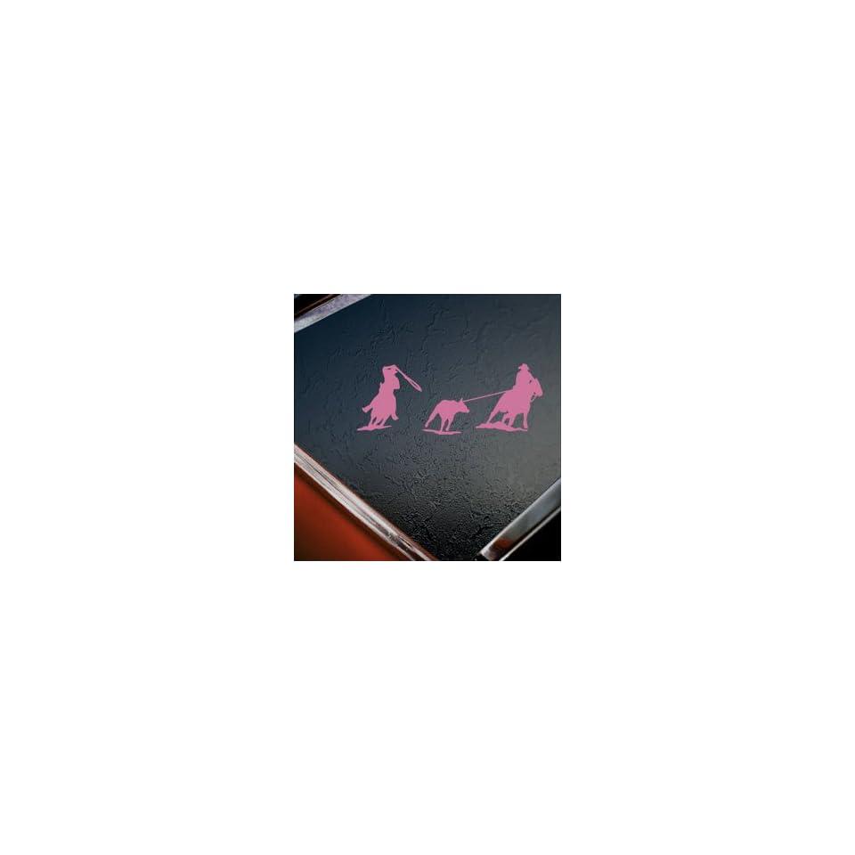 Team Roping Roper Horse Pink Decal Truck Window Pink Sticker
