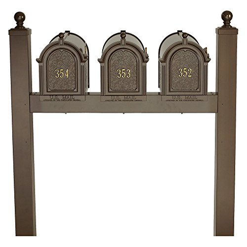 Whitehall Products 16520 Aluminum Multi Mailbox Triple Package in Bronze