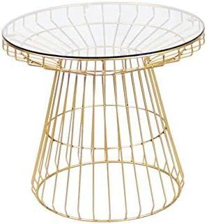 Goedkoop JCNFA BIJZETTAFEL Onregelmatige Coffee Table Handmade LOFT industriële stijl smeedijzer gehard glas Sofa Side Table drWktZ8
