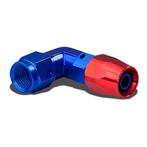4AN 90-Degree Swivel Fuel Line Hose Twist-Lock Male Union Adapter With Reusable End