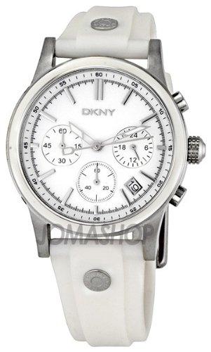 DKNY White Strap Chronograph Ladies Watch -