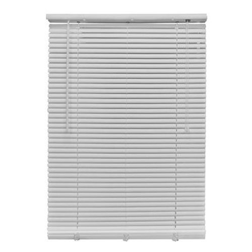 Homepointe 2764LFW White PVC Mini Blind, 1-Inch by 27-Inch by 64-Inch