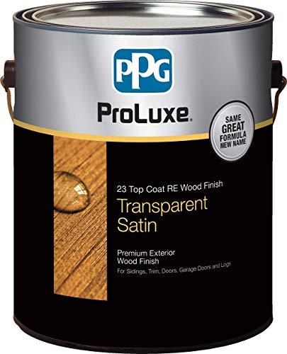 PPG ProLuxe 23 Top Coat R.E. Wood Finish, 1 Gallon, 045 Mahogany
