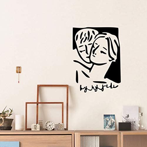 Yu2d Wall Sticker Line Drawing Decor Home Room DIY Decor Simple Style Removable Mural(A) -