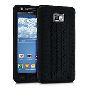 kwmobile Funda acolchada de gel TPU de alta calidad para Samsung Galaxy S2 i9100 / S2 PLUS i9105 en negro. Moderna funda protectora fabricada conforme a las normas de calidad más exigentes.