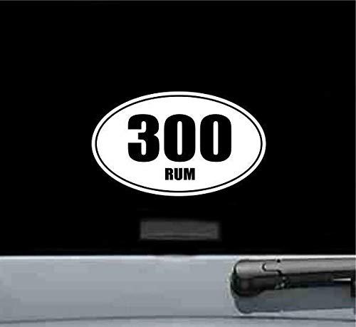 N.SunForest 300Rum 300 Rum Oval Vinyl Decal Sticker Gun Rifle Bullet Ammo Rifle Trigger Shot