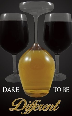 (Upside Down Wine Glass Giant ~ Dare to Be Different)