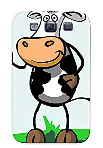 Top Quality Case Cover For Galaxy S3 Case With Nice Cartoon Cow Appearance